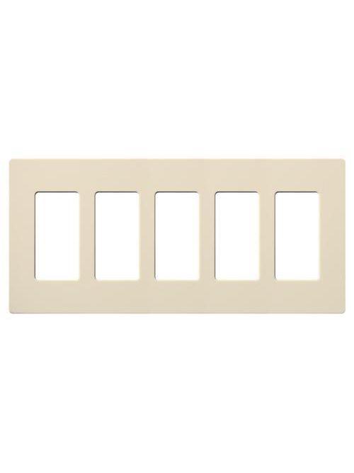Lutron Electronics SC-5-ES 5-Gang Eggshell Polycarbonate Designer Wallplate