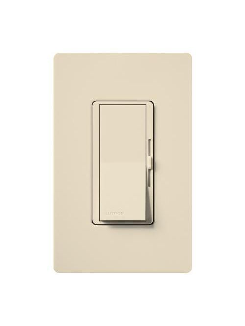 Lutron Electronics DVSCFSQ-F-ES 120 VAC Eggshell 3-Speed 1-Pole/3-Way Preset Fan Control Dimmer