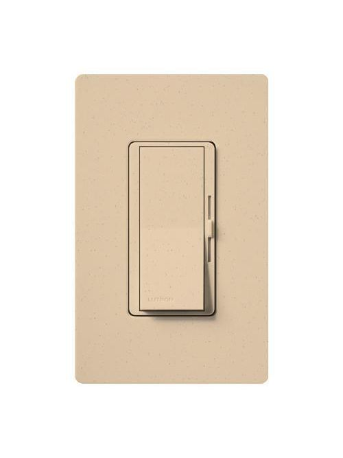 Lutron Electronics DVSC-10P-DS 1000 W 120 Volt Desert Stone 1-Pole Incandescent/Halogen Paddle Switch Preset Dimmer