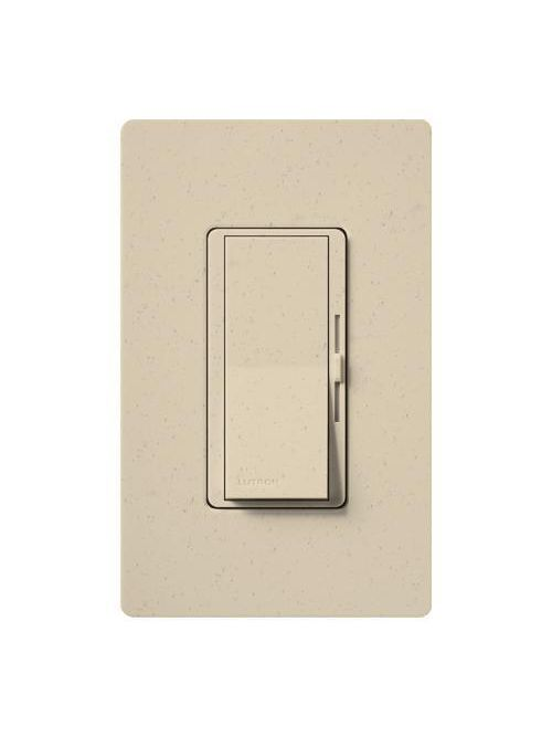 Lutron Electronics DVSCLV-600P-ST 450 W 120 Volt Stone 1-Pole Magnetic Low Voltage Paddle Switch Preset Dimmer