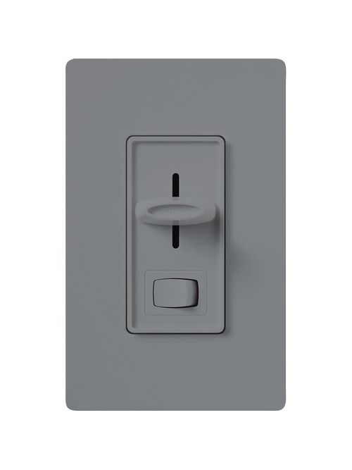 Lutron Electronics S-603PH-GR 600 W 120 VAC Gray 3-Way Incandescent/Halogen Preset Slide Dimmer with Rocker Switch