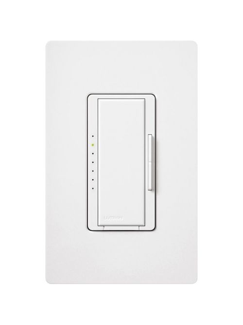 Lutron Electronics MALV-1000-WH 800 W 120 Volt White 1-Pole/Multi-Location Magnetic Low Voltage Digital Fade Dimmer