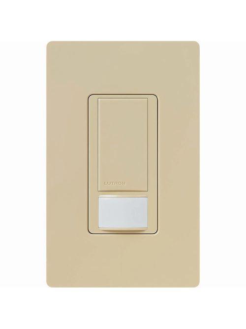 Lutron Electronics MS-VPS2-IV Maestro 250 watt Ivory 1-Pole Vacancy Sensor Switch