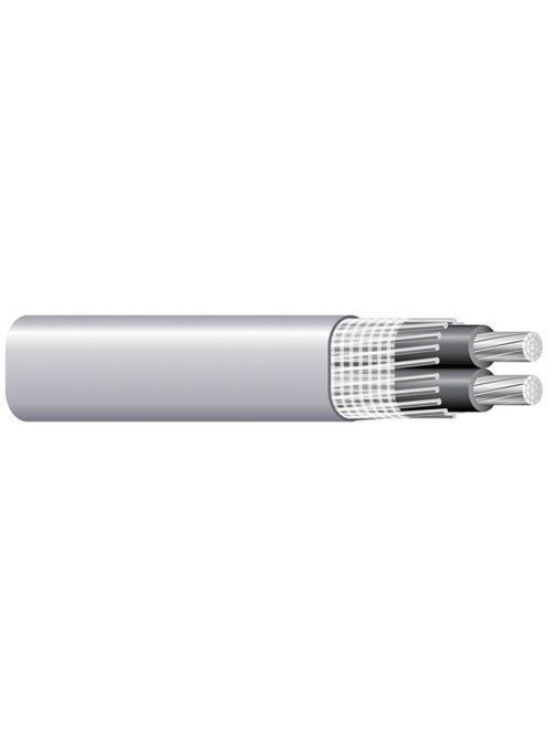 Southwire 13095515 (2) 2 AWG Conductor 4 AWG Ground 864 Mil 500 Foot 600 Volt Gray Aluminum/PVC SEU Service Entrance Cable