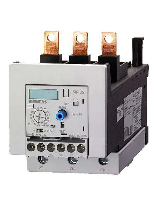 Siemens Industry 3RB2056-1FW2 1000 VAC 50 to 200 Amp 3-Pole 1NO 1NC Electronic Solid State Overload Relay