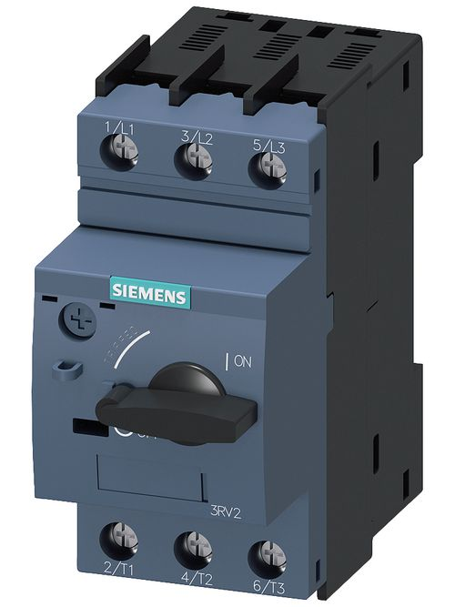 Siemens Industry 3RV20214BA10 3-Pole 20 Amp 690 VAC 3-Phase Screw Terminal Thermal Magnetic Motor Starter Protector