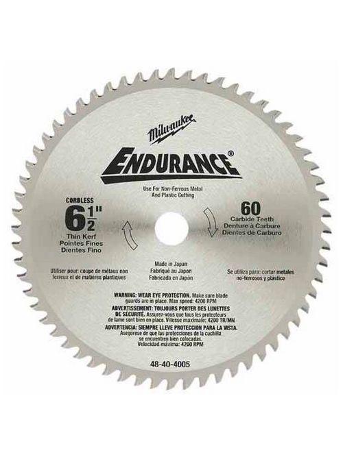 "Milwaukee 48-40-4005 6-1/2"" 60T Carbide Teeth Circular Saw Blade"