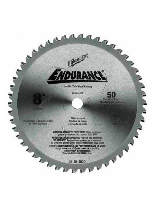 "Milwaukee 48-40-4520 8"" 50 Teeth Dry Cut Cermet Tipped Circular Saw Blade"