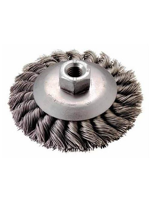 "Milwaukee 48-52-1315 4"" Stainless Steel Bevel Knot Brush"