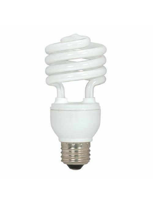 SATCO S6272 18 W 120 Volt 82 CRI 4100 K 1200 Lumen E26 Medium Base T2 Mini Spiral Compact Fluorescent Lamp