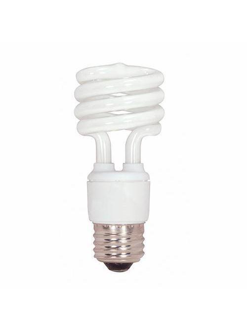 SATCO S7218 13 W 120 Volt 82 CRI 4100 K 880 Lumen E26 Medium Base T2 Mini Spiral Compact Fluorescent Lamp