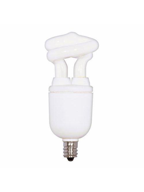 SATCO S7264 5 W 2700 K 82 CRI Candelabra Base 120 Volt Miniature Spiral Compact Fluorescent Lamp