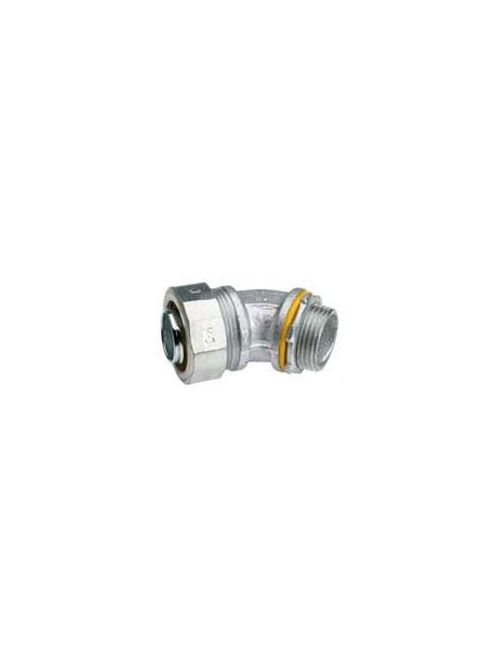 RACO 3568 2 Inch Zinc Electroplated Malleable Iron Insulated Throat 45 Degrees Liquidtight Conduit Connector