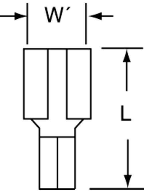 3M MU14-250DFHTX 100/Bottle Non-Insulated High Temperature Female Disconnect