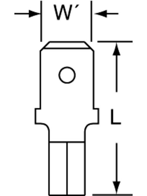 3M MU14-250DMHTX 100/Bottle Non-Insulated High Temperature Male Disconnect