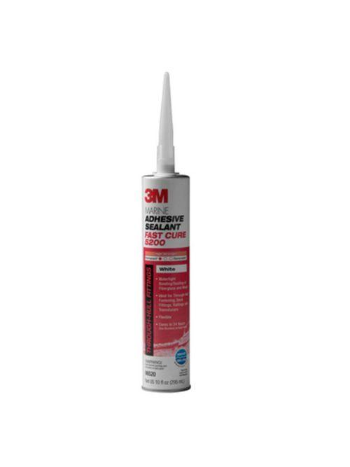 3M 06520-White-1/10cart Fast Cure Marine Adhesive Sealant