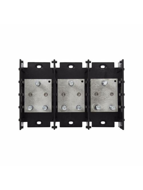 Bussmann Series 16591-3 1-7/16 x 3/8-16 Inch 3-Pole 400 Amp 600 Volt Power Distribution Stud Block