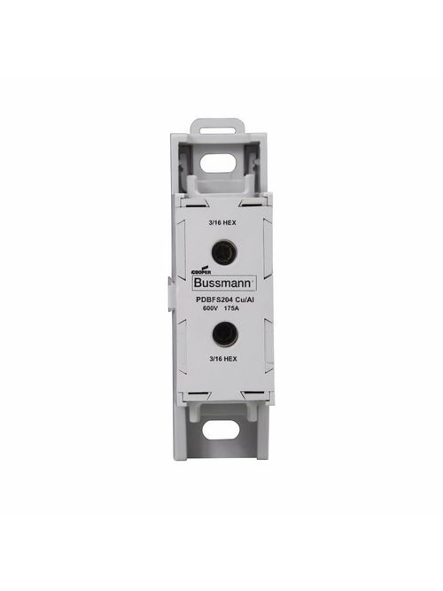 Bussmann Series PDBFS204 175 Amp 1-Pole 8 to 2/0 AWG Power Distribution Block