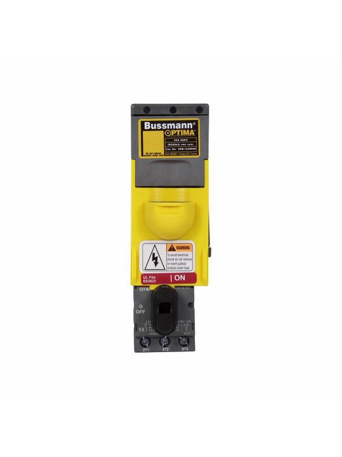 Bussmann Series OPM-1038RSWC 30 Amp 600 VAC/VDC Class CC Rejection Fuse Holder and Disconnect Switch