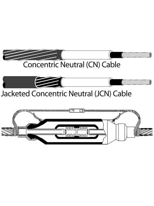 3M 5451R-CIR-1/0A Molded Rubber 25/28 kV Inline Splice Kit