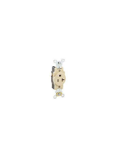 Leviton 5361 125 Volt 20 Amp 2-Pole 3-Wire NEMA 5-20R 1 Hp Brown Thermoplastic Nylon Straight Blade Receptacle
