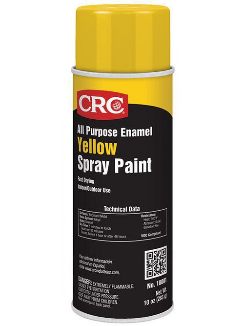CRC Industries 18001 16 oz Aerosol Yellow Enamel Spray Paint
