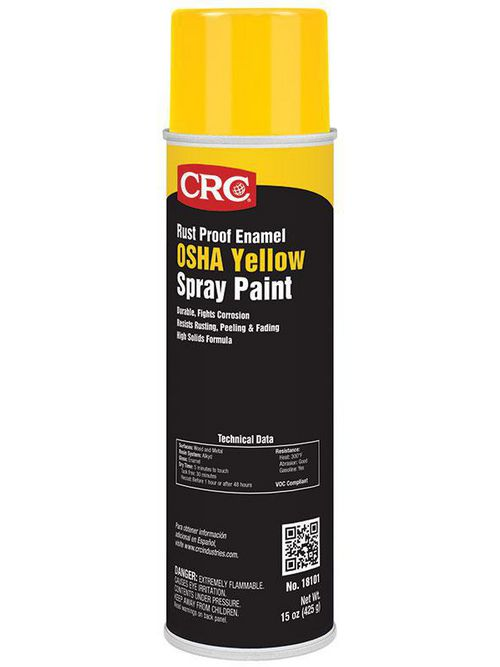 CRC Industries 18101 20 oz Aerosol OSHA Yellow Rust Proof Enamel Spray Paint