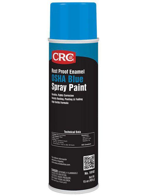 CRC Industries 18102 20 oz Aerosol OSHA Blue Rust Proof Enamel Spray Paint