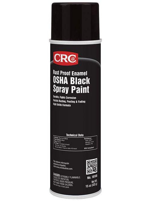 CRC Industries 18105 20 oz Aerosol OSHA Black Rust Proof Enamel Spray Paint