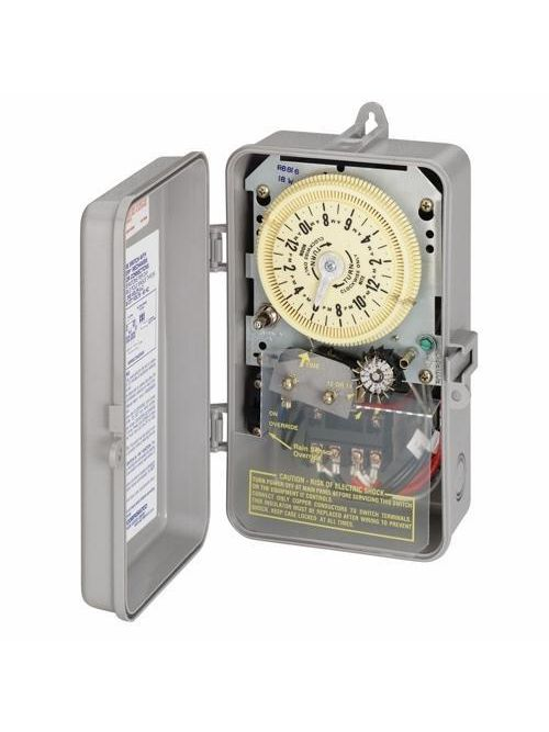 Intermatic R8806P101C NEMA 3R Plastic Case 208 to 277 VAC 60 Hz 25 Amp DPST Electromechanical Time Switch