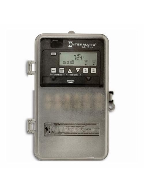Intermatic ET1125CPD82 NEMA 3R Plastic Case 24 Hour 120 to 277 VAC 60 Hz 30 Amp DPST Electronic Time Switch