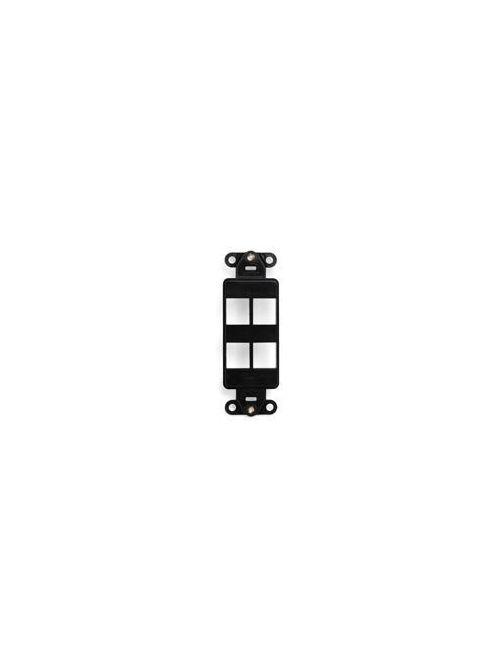 Leviton 41644-E Black 4-Port Quickport Decora Insert