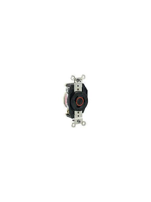 Leviton 2360 125/250 Volt 20 Amp 3-Pole 3-Wire NEMA L10-20R 1/2 Hp Black Nylon Non-Grounding Flush Mount Locking Receptacle