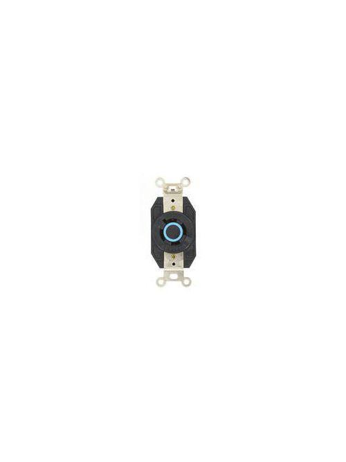 Leviton 2440 20 Amp 120/208 Volt NEMA L18-20R 4-Pole 4 Wire Flush Mounting Industrial Grade Black Locking Receptacle
