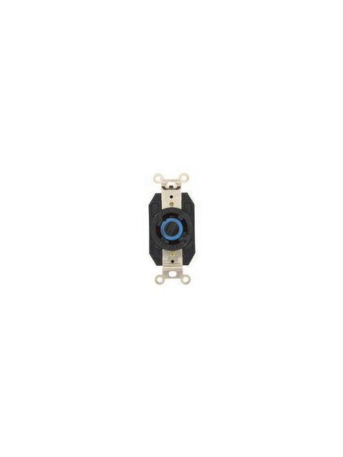 Leviton 2750 120/208 Volt Star 30 Amp 4-Pole 4-Wire NEMA L18-30R 3 Hp Black Nylon Flush Mount Locking Receptacle