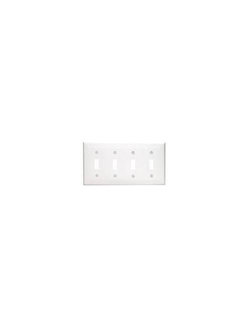 Leviton 80712-E 4-Gang Toggle Device Mount Switch Standard Size Thermoplastic Nylon Black Wallplate