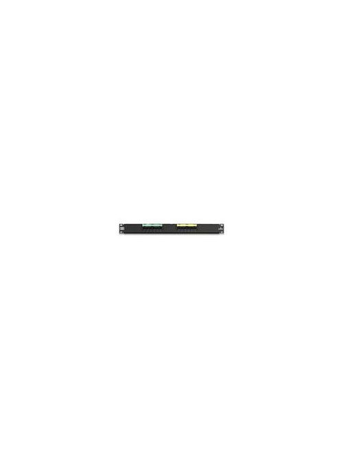 Leviton 69586-U12 Category 6 Black 14 Gauge Steel 1-Rack Unit Wall Mount Universal Patch Panel