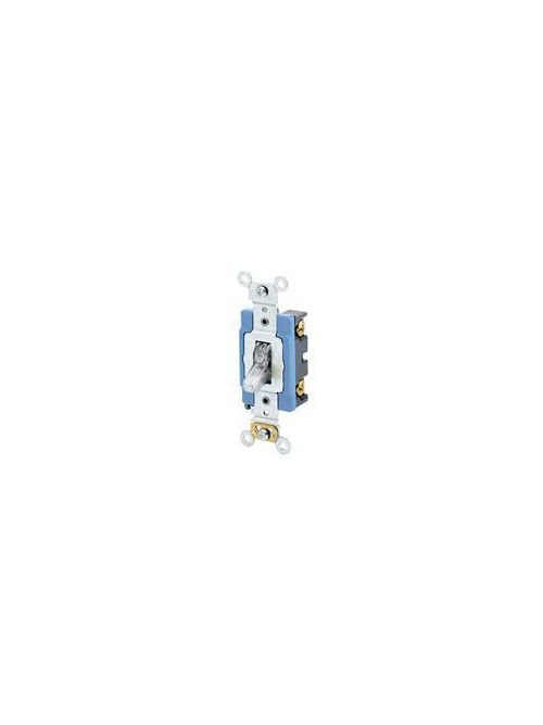 Leviton 1201-LHC 15 Amp 120 Volt Lighted Handle Illuminated OFF Self Grounding Clear Toggle 1-Pole AC Quiet Switch