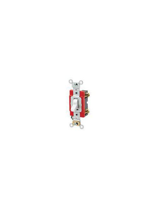 Leviton 1221-LHW 120 VAC 20 Amp 1-Pole 1 Hp White Thermoplastic Lighted Handle Illuminated Toggle Quiet Switch
