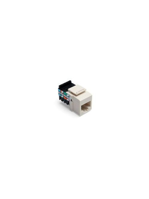 Leviton 41108-RT3 Category 3 Light Almond Plastic Snap-In 8-Position 8-Conductor UTP Jack Connector