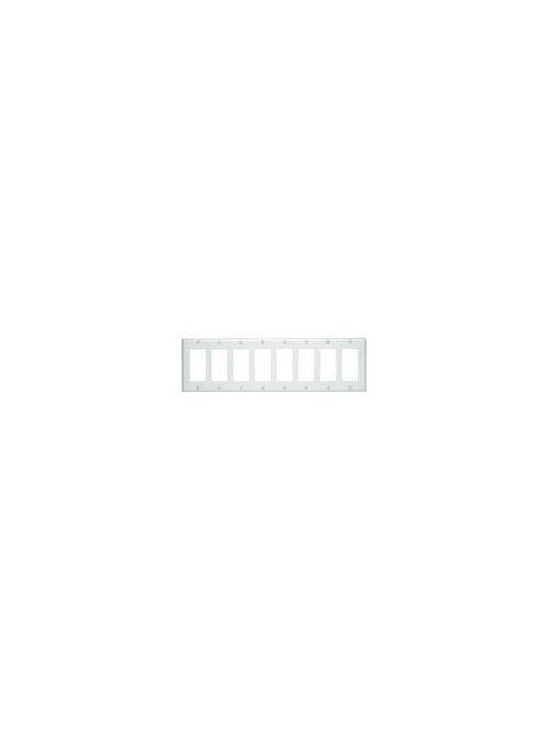 LEV 80408-W WALLPLATE 8 GANG