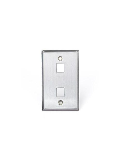 Leviton 43080-1S2 2.78 x 0.45 x 4.5 Inch Brushed 304 Stainless Steel Snap-In Standard Wallplate