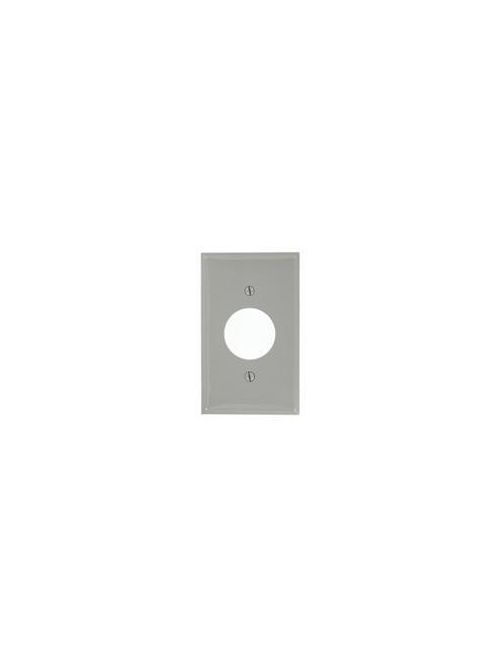 Leviton 80704-GY 1-Gang Single 1.406 Inch Hole Device Mount Receptacle Standard Size Grey Wallplate