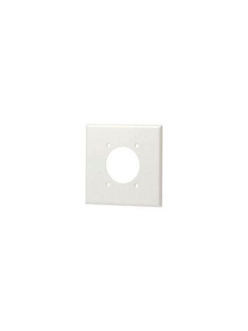 Leviton 80726-I 2-Gang Flush Mount 2.15 Inch Diameter Device Receptacle Standard Size Ivory Wallplate