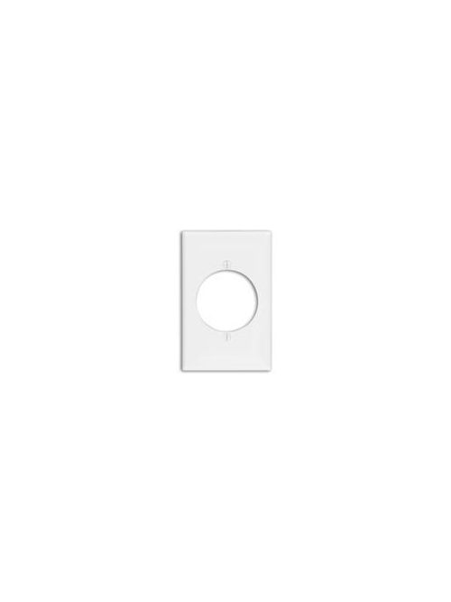 Leviton 80728-W 1-Gang Flush Mount 2.15 Inch Diameter Device Receptacle Midway Size White Wallplate