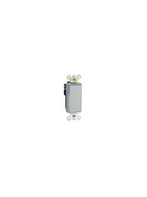 Leviton 5624-2GY 20 Amp 120/277 Volt Decora Plus Rocker 4-Way Grey AC Quiet Switch