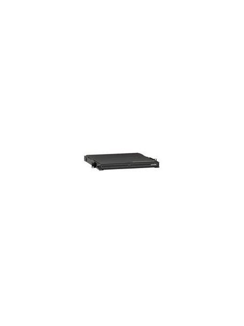 Leviton 5R1UM-F03 19 x 15.72 x 1.72 Inch Black 16 Gauge Steel Rack Mount 1-Unit Empty Fiber Optic Enclosure
