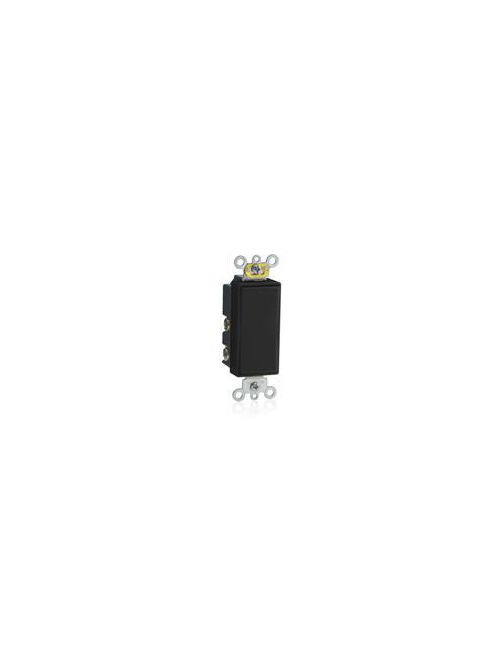 Leviton 5657-2E 15 Amp 120/277 Volt Decora Plus Rocker Double-Throw Momentary Contact 1-Pole Black AC Quiet Switch