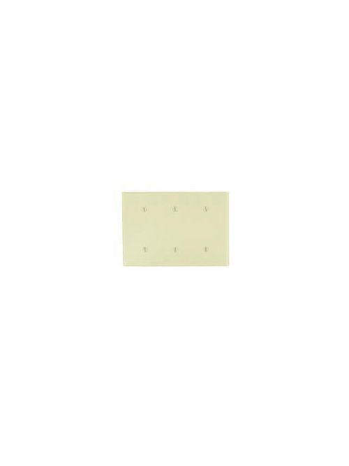 Leviton 86035 3-Gang No Device Blank Standard Size Thermoset Strap Mount Ivory Wallplate