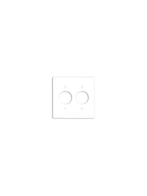 Leviton 86052 2-Gang Single 1.406 Inch Hole Device Mount Receptacle Standard Size Thermoset Ivory Wallplate